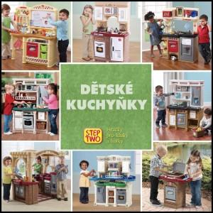 Dětská kuchyňka je jedna z nejoblíbenějších hraček pro holky i pro kluky. Kuchyňky na obrázku jsou od amerického výrobce Step2 a v České republice je prodává společnost StepTwo.