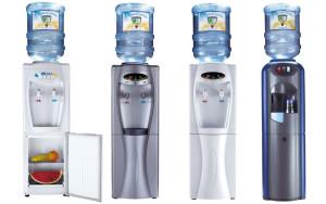 Výdejníky na vodu AQUARA mají mnoho variací. Dodává se do nich barelová pramenitá voda.