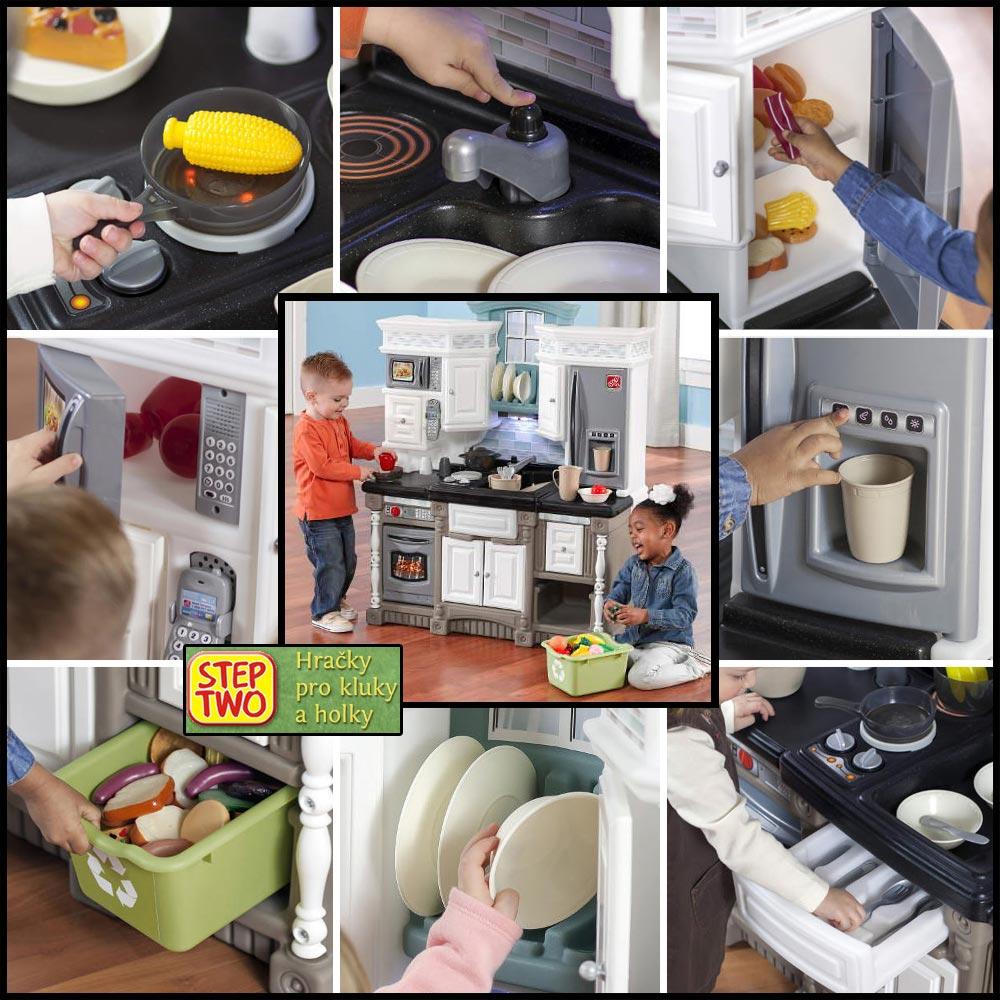 Dětské kuchyňky jsou skvělou a bezpečnou hračkou pro děti. Kuchyňky na obrázku jsou od amerického výrobce Step2 a v České republice je prodává společnost StepTwo.