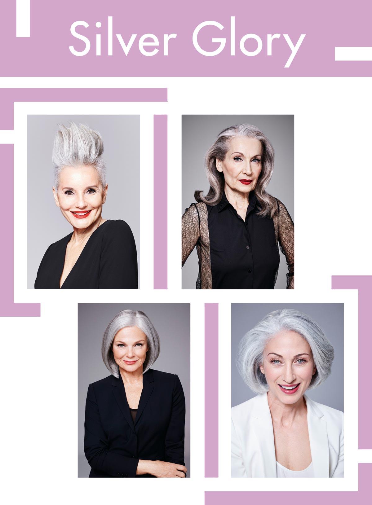 Trendy účesy pro starší ženy Schwarzkopf Professional – Silver Glory.