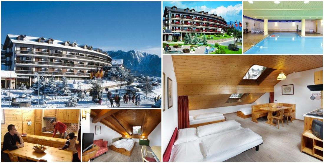 Italské Val di Fiemme – Castello di Fiemme, lokalita Centro Vacanze Veronza, je zárukou skvělé zimní dovolené. Hotel Veronza nabízí i velký bazén nebo saunu.
