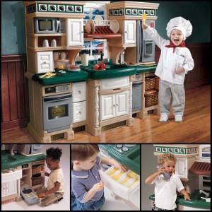 Věnujte svému dítěti dárek snů – dětskou kuchyňku! Kuchyňky na obrázku jsou od amerického výrobce Step2 a v České republice je prodává společnost StepTwo.