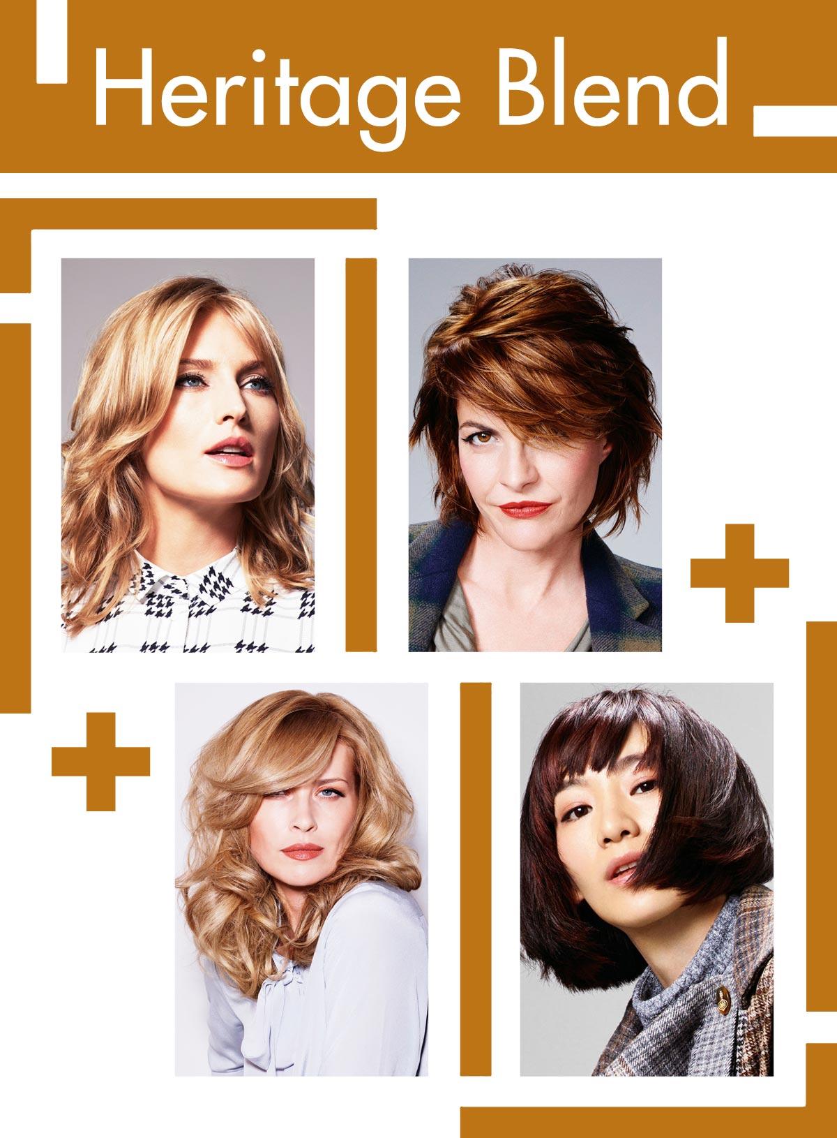 Trendy účesy pro starší ženy Schwarzkopf Professional – Heritage Blend.