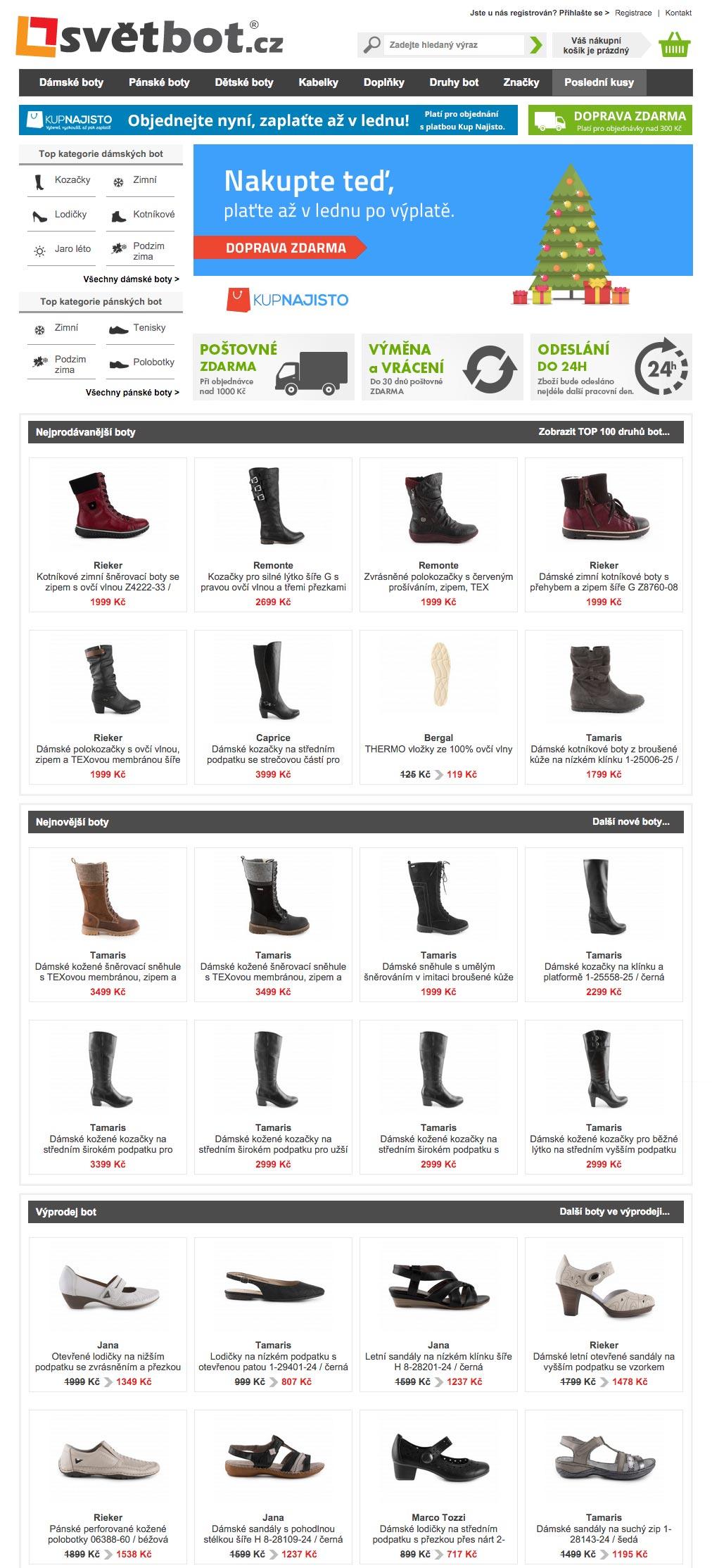 Světbot.cz je skvělé místo pro nákup dámské, pánské a dětské obuvi i dalších módních doplňků.
