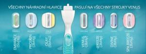 Univerzální holítka vám umožní experimentovat s typem holící hlavice, čili žiletky. Třeba vám na každou část těla bude vyhovovat jiná hlavice.