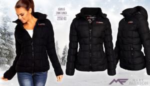 Černá dámská zimní bunda Geographical NORWAY z Mary-fashion.cz se stane základním a univerzálním módním kouskem vašeho šatníku. (Cena: 2250 Kč)