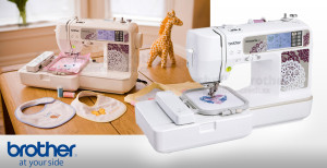 Šicí stroj a vyšívací stroj v jednom vám umožní kreativnější šití při nízkých pořizovacích nákladech šicího stroje. Na obrázku je šicí a vyšívací stroj Brother Innov-Is 955.