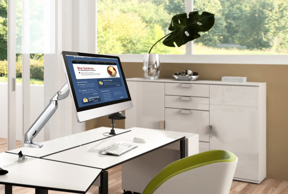 Stolní držák na monitor si poradí i s bolestí vašich zad způsobených nesprávným sezením u počítače.