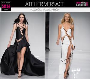 Plesové šaty a večerní róby podle Haute Couture Spring 2016 (Atelier Versace).
