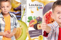 Zácpu lze vyřešit zcela přírodní cestou. U dětí to oceníme ještě více. LaxAktiv využívající přirozeně projímavé vlastnosti některého ovoce.