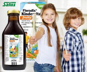 Salus Floradix Kindervital je doplněk stravy, který našim dětem poskytne vše, co potřebují pro zdravý růst kostí a pro zdravé zuby.