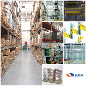 BEG Bohemia nabízí sortiment, který zahrnuje regály, kompletní regálové systémy i zařízení pro prodejny nebo kanceláře či dílny.