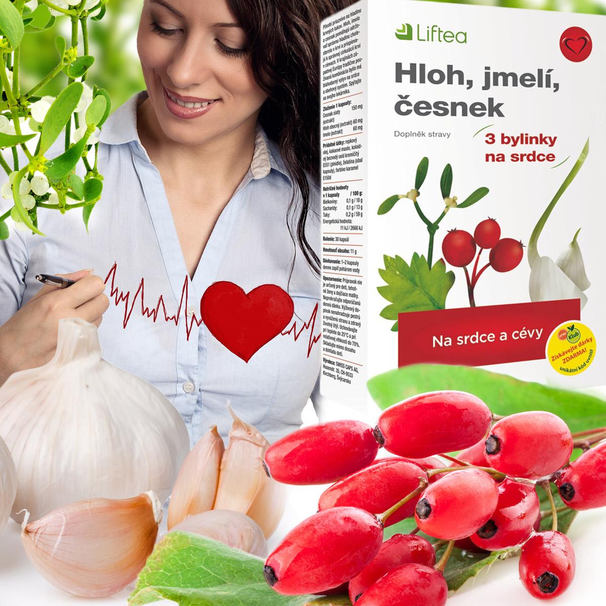 Liftea Hloh, jmelí, česnek je doplněk stravy nejen pro unavené srdce!