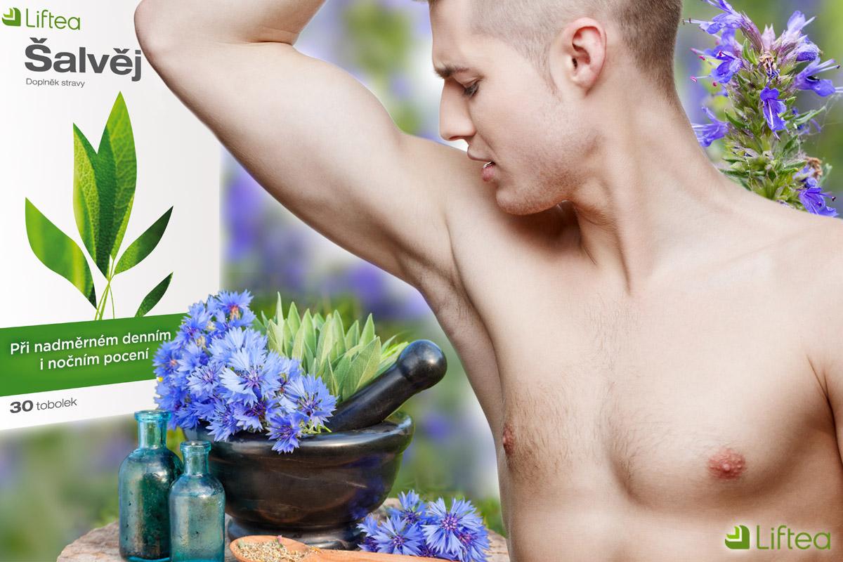 Šalvěj a yzop jsou považovány za nejúčinnější bylinky proti pocení. A pomáhají nejen ženám, ale i mužům a to při nadměrném pocení kterékoliv části těla.