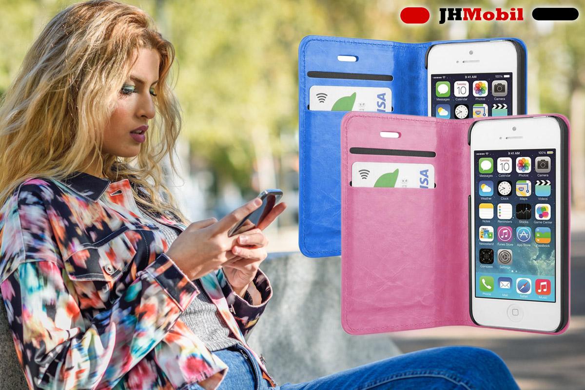 Praktické obaly na mobily např. s přepážkou na karty pořídíte na JHMobil.cz v různých barvách.