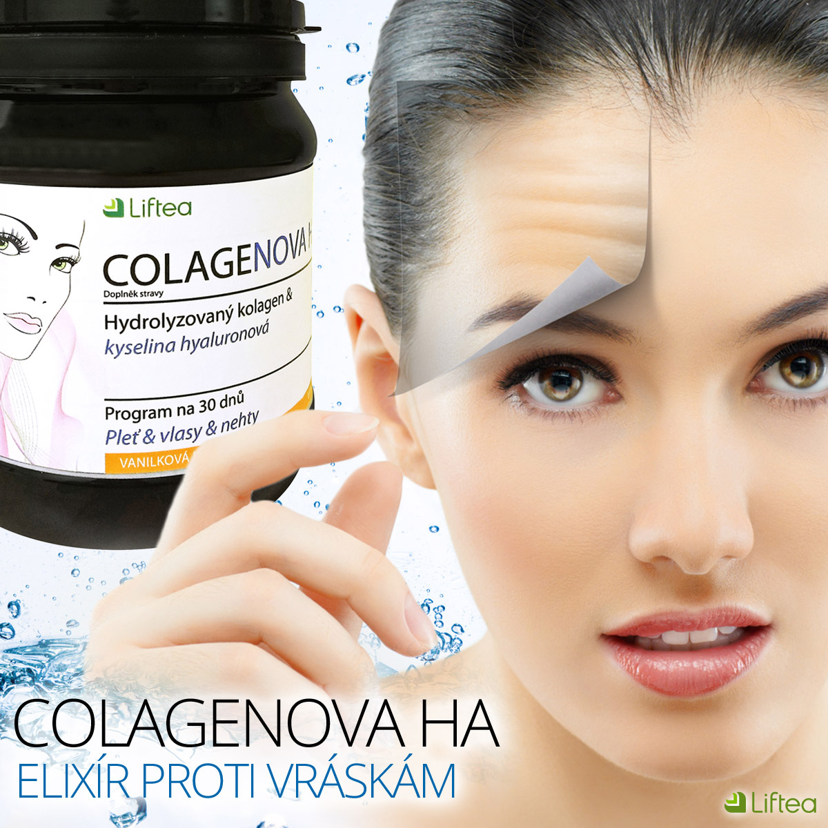 Kolagen Peptan a kyselina hyaluronová HyaMax obsažené v produktu Liftea Colagenova HA jsou doslova elixíry krásy.