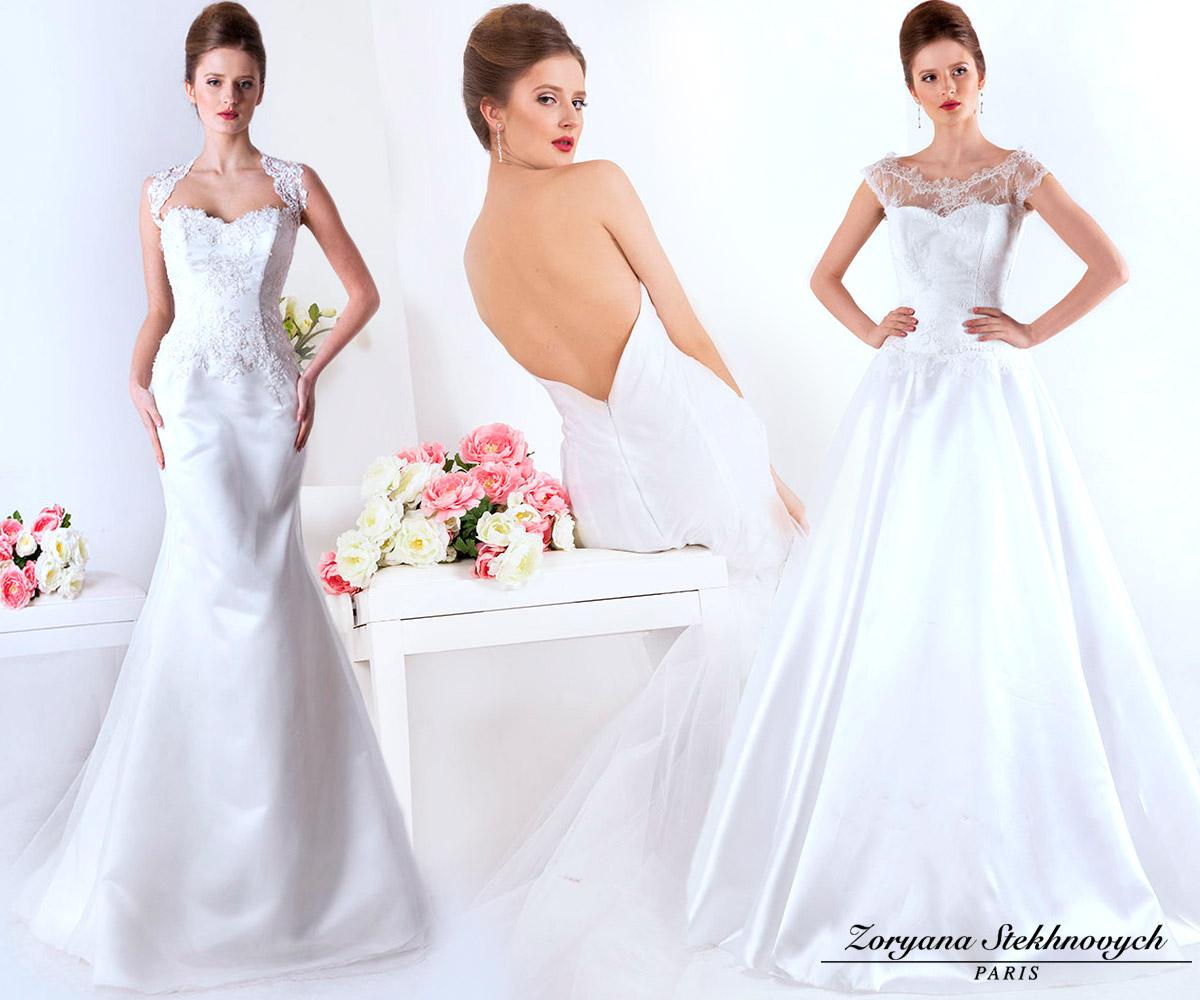 Pražská půjčovna svatebních šatů nabízí skvělé modely Atelier Della Sposa i autorské modely módní návrhářky Zoryana Stekhnovych Paris.