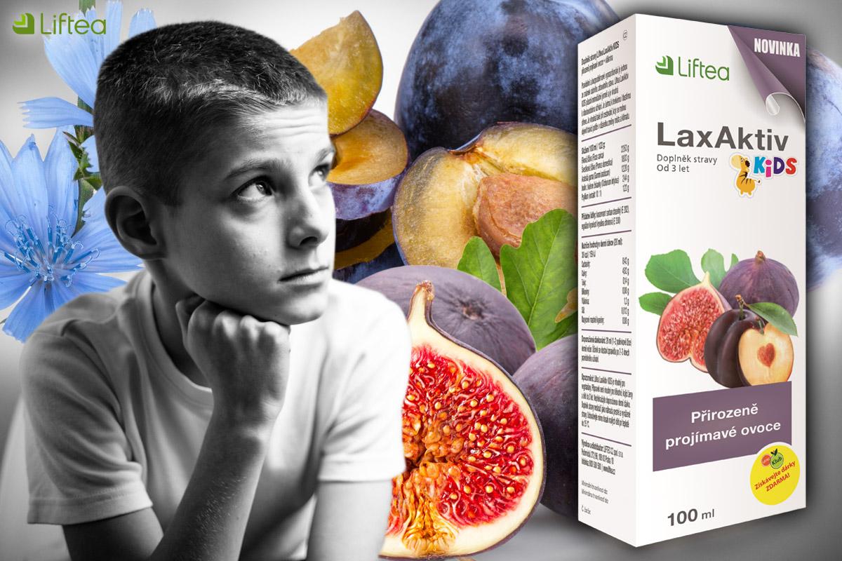 Zácpu lze vyřešit zcela přírodní cestou. U dětí to oceníme ještě více. LaxAktiv využívá přirozeně projímavé vlastnosti vybraných druhů ovoce.