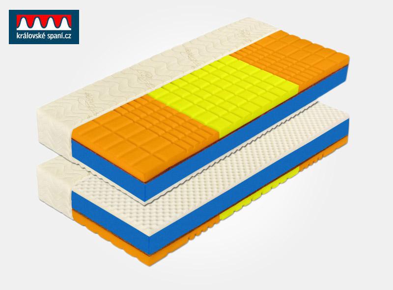 Vysoká 7-zónová robustní matrace s vysokou tuhostí. Matrace je vyrobena z houževnaté pěny Flexifoam. Tuto matraci koupíte v e-shopu Kralovske-spani.cz.