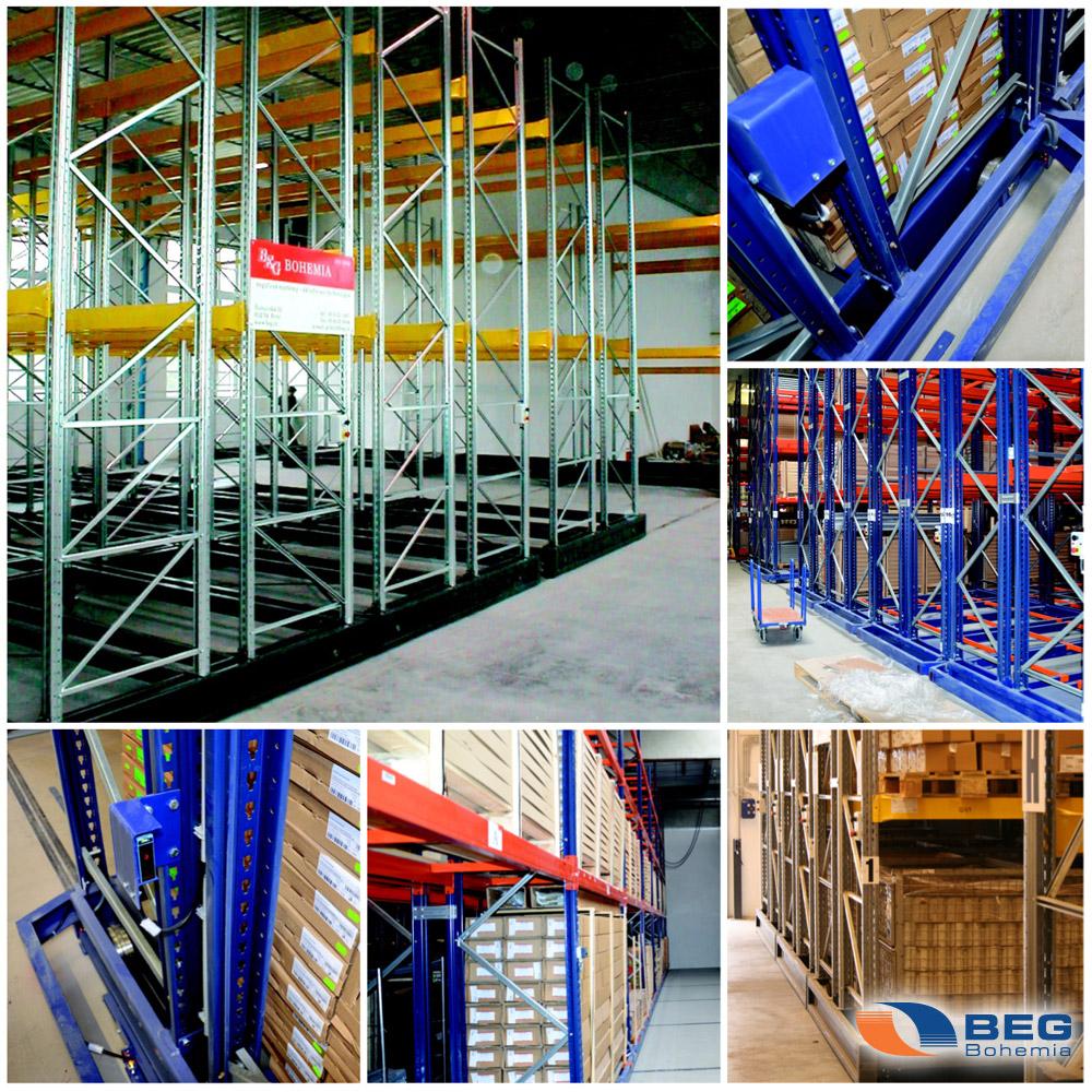 Posuvné regály od BEG Bohemia pomohou ve chvíli, kdy si ve svém skladu musíte hlídat každý centimetr nevyužitého prostoru.