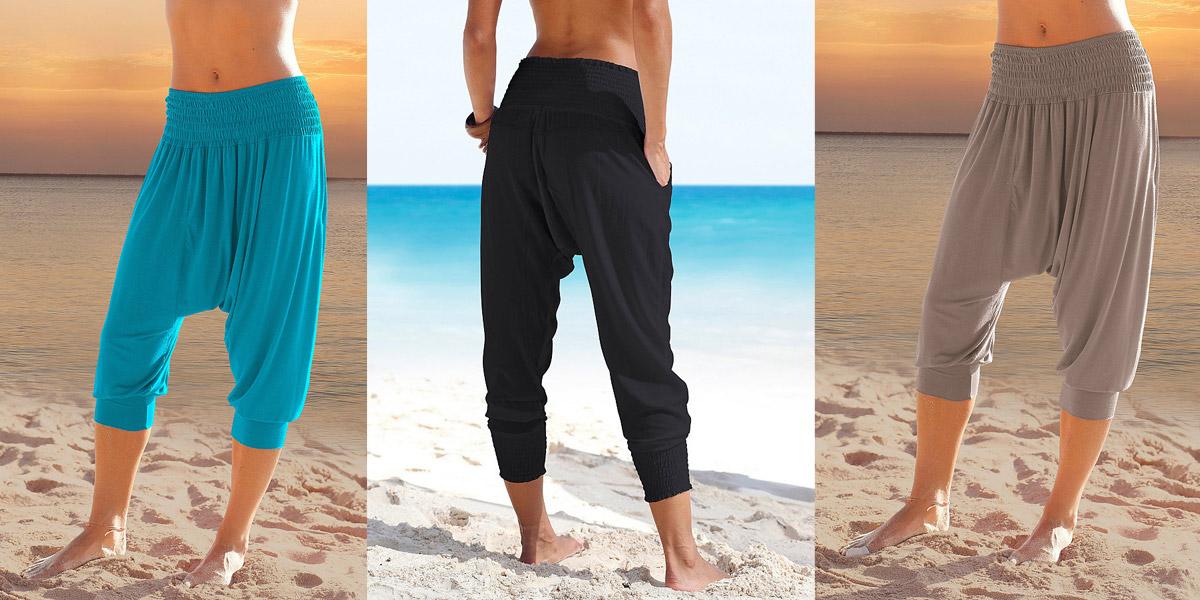 Harémové kalhoty  jak v nich vypadat dobře   823d9cd216