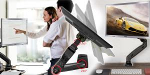 Monitor se stane dokonalým, až když jej doplní profesionální stolní držák monitoru. Právě on vám jej umožní využívat ergonomicky i multifunkčně.
