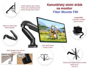 Stolní držák monitoru Fiber Mounts F80 so přizpůsobíte 100% svým potřebám.