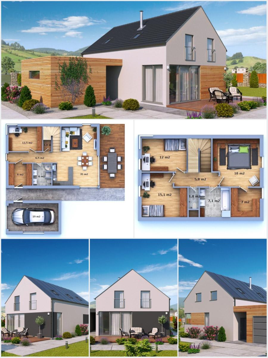 Dřevostavby na klíč od společnosti Certifikované zděné domy a dřevostavby na klíč, s.r.o.