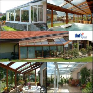 Zimní zahrada je splněným snem ideálního bydlení mnoha lidí. DAFE-PLAST dodává kvalitní bezúdržbové zimní zahrady z plastových i hliníkových profilů.