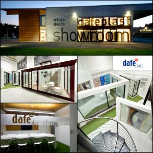Showroom DAFE_PLAST Jihlava představuje na ploše 300 metrů čtverečních své produkty i výrobky partnerských dodavatelů SCHÜCO, REHAU, PERITO a ISOTRA.