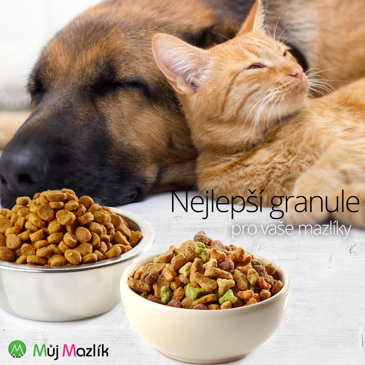 Hledáte nejlepší granule pro psa a kočku? Nakupujte krmení pro zvířata na MujMazlik.cz.