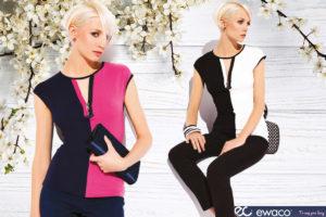 Elegantní dámské tričko v kontrastní kombinaci barev. Zajímavostí je průsvitná síťovaná vsadka na výstřihu. Tričko je pohodlné a velice ženské. Má velice praktické a příjemné složení 83 % viskóza, 11 % polyamid a 6 % elastan. Díky němu se tričko snadno udržuje a skvěle nosí. (Dámská trička jsou ze sortimentu e-shopu Ewaco.cz.)