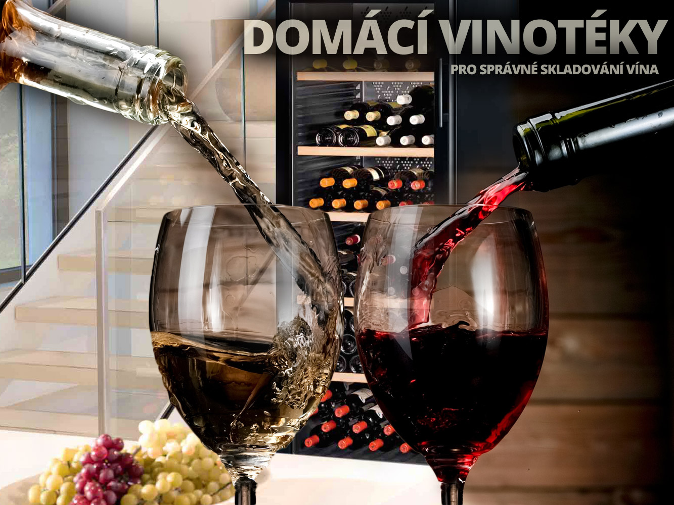 Domácí vinotéky dají každému vínu tu správnou teplotu