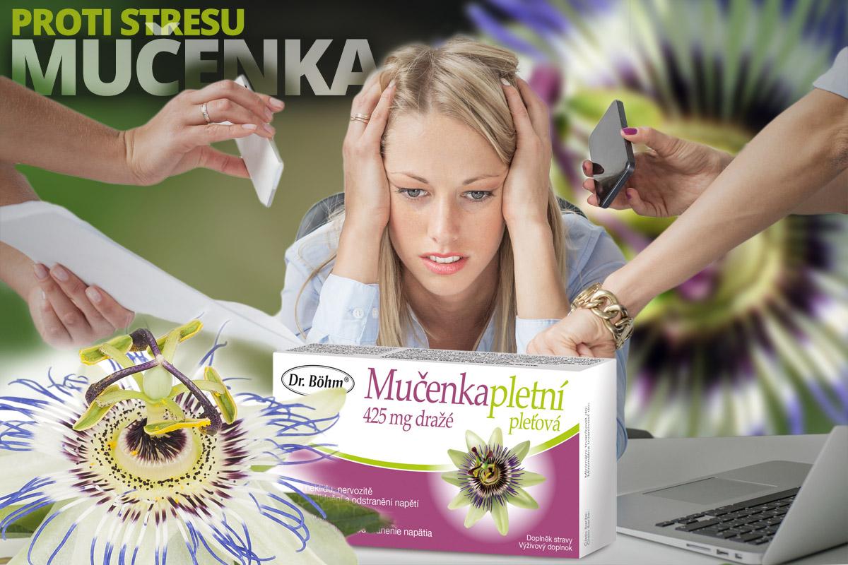 Mučenka pletní je rostlina, která pomáhá při stresu, nervovém přetížení, odstraňuje neklid, pocity strachu a úzkosti i problémy s usínáním a průběhem spánku. Nemá ale nepříjemný sedativní efekt a tak vás neuspí během dne a lze ji proto užívat i při řízení.