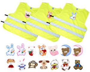 V sortimentu e-shopu Altima.cz najdete dětské reflexní vesty různých velikostí, s potisky i bez nich, se zapínáním vepředu, na boku na suchý zip, nebo jednoduše navlékací přes hlavu.
