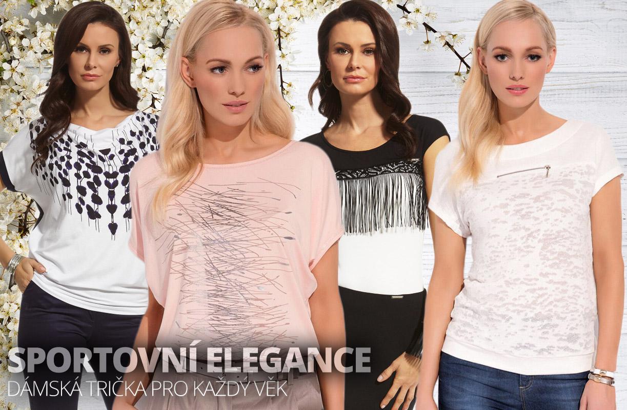 Sportovní elegance se hodí pro každý věk. A dámským tričkům velice sluší. (Dámská trička jsou ze sortimentu e-shopu Ewaco.cz.)