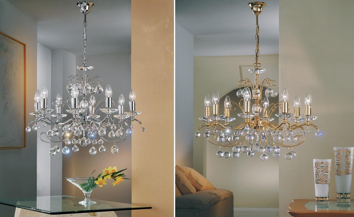 Lustry nejsou jen osvětlením pro obývací pokoje. Hodí se i do kuchyní nebo ložnic.