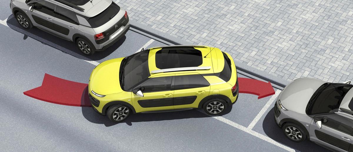 Systém Park Assist pro snadné parkování najde automaticky místo na zaparkování a pomůže vám Citroën C4 Cactus zaparkovat. Staráte se jen o akceleraci a brzdění.