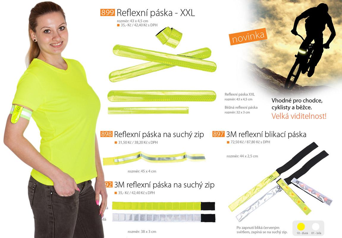 Reflexní páska pro chodce se stala povinným módním doplňkem