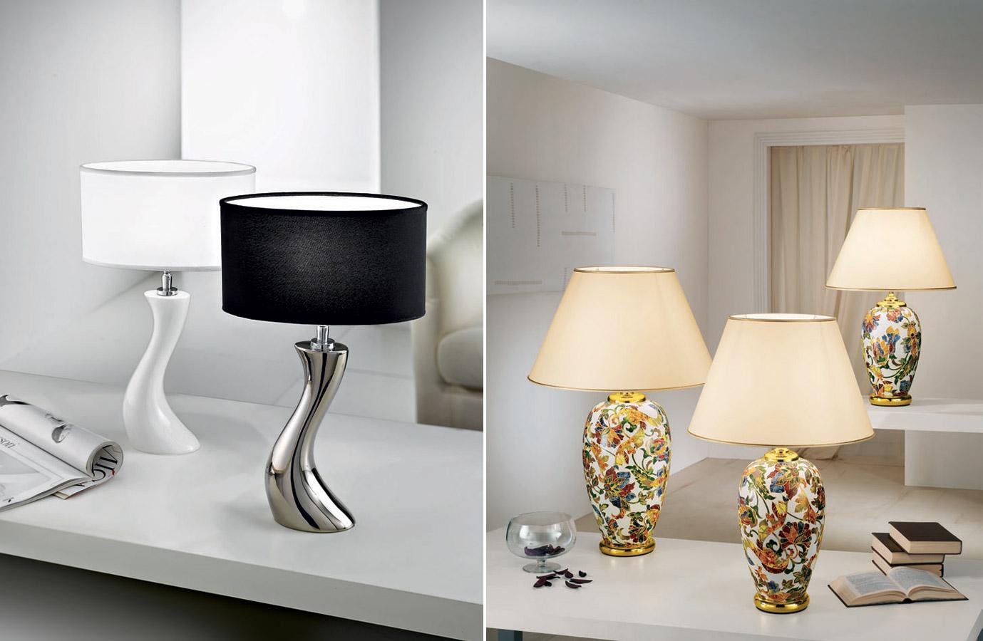 Stojací a stolní lampy dotvoří celkovou atmosféru prostoru.