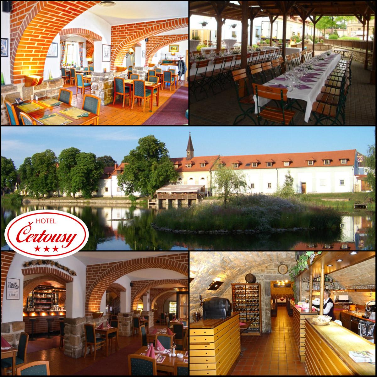 Restaurace Praha 9 – to je Hotel Čertousy se všemi možnostmi, od klasických restauračních jídel, až po pečení selete, grilování, bufety, vinný sklípek i další speciální cateringové služby.