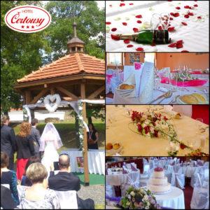 Svatba v Hotelu Čertousy nabízí svatby na klíč, skvělé restaurační služby i možnost krátkodobého ubytování pro svatební hosty.