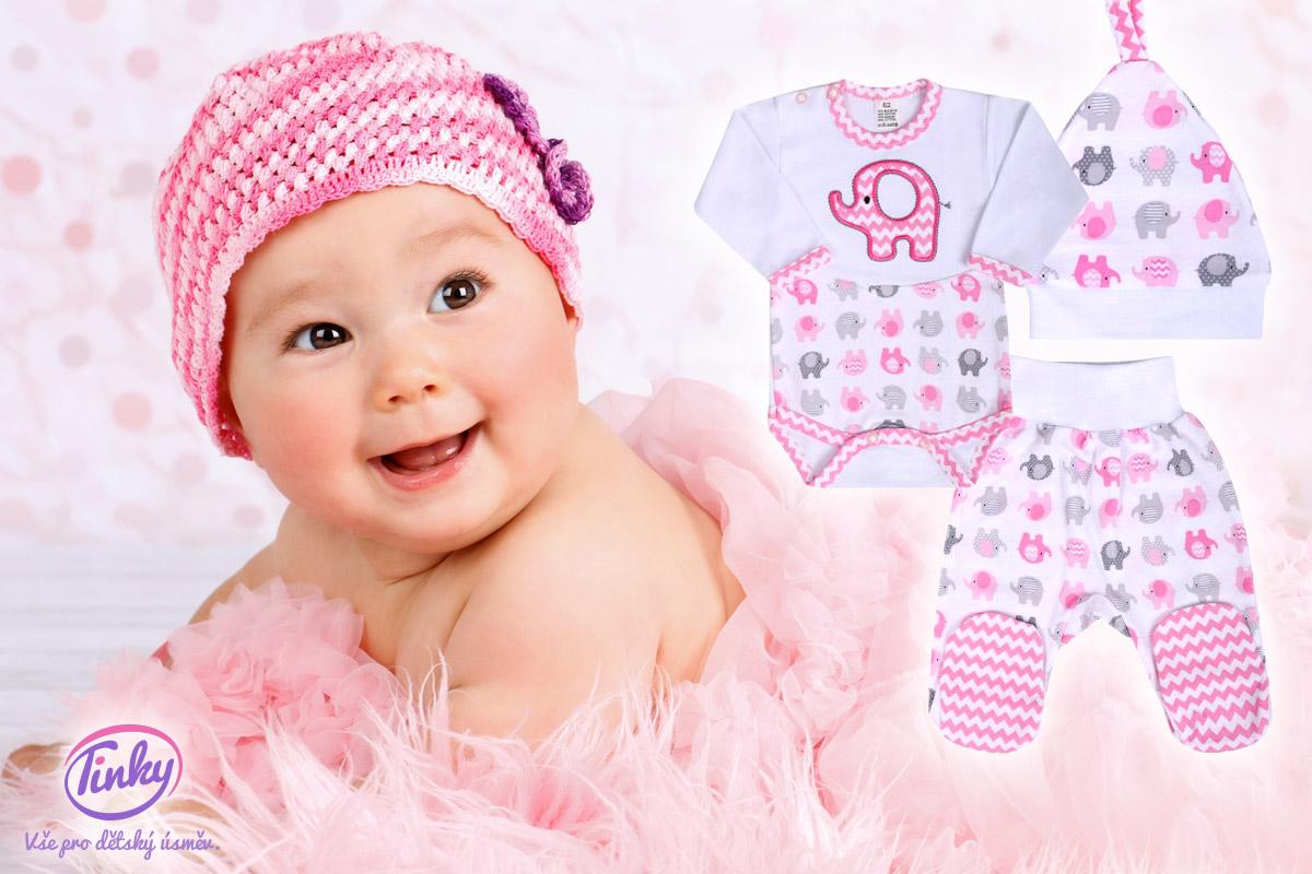 Kvalitní a levné oblečení pro miminka koupíte v e-shopu Tinky.cz.