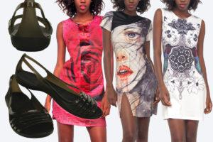 Sandály Crocs skvěle ladí s letními šaty. Na obrázku jsou šaty Culito from Spain. Boty i šaty koupíte v e-shopu Different.cz.