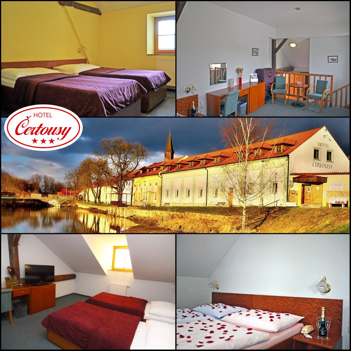 Pražský Hotel Čertousy nabízí až 67 ubytovacích míst.