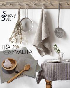 Lněné tkaniny najdou uplatnění nejen v ložnici, ale i v koupelně, v kuchyni nebo v módě.