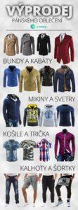 Výprodej pánského oblečení v e-shopu Z-ciziny.cz vás obleče doslova od hlavy až k patě.