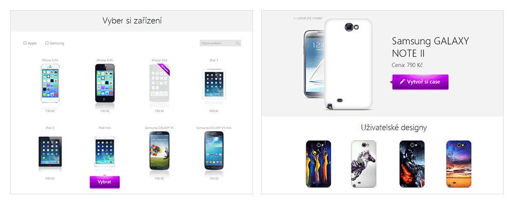 Vyber typ svého mobilního telefonu a začni tvořit