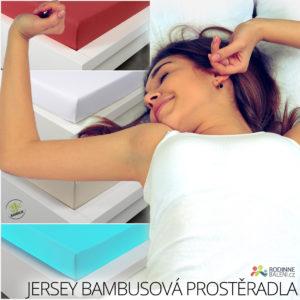 Bambusová jersey prostěradla jsou nejlepší volbou pro kvalitní spánek. Koupíte je v e-shopu Rodinnebaleni.cz.
