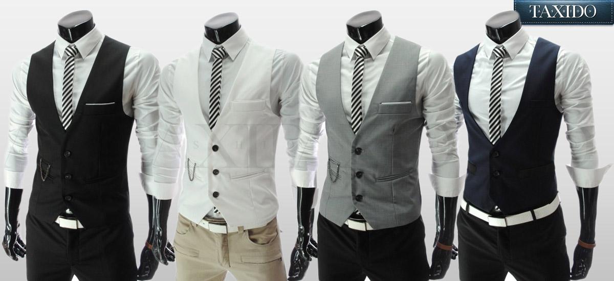 Pánské vesty ze sortimentu TAXIDO Fashion.
